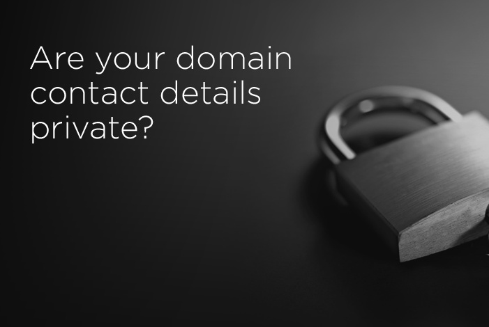 Is your domain private?